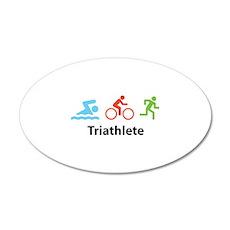 Triathlete 38.5 x 24.5 Oval Wall Peel
