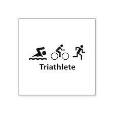 "Triathlete Square Sticker 3"" x 3"""