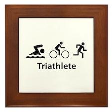 Triathlete Framed Tile