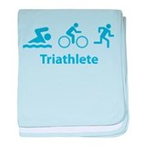Triathlete baby blanket