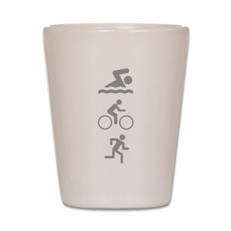 Triathlete Shot Glass