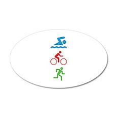 Triathlete 22x14 Oval Wall Peel