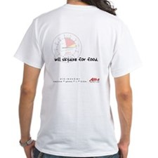 will skydive for food ~ white tee