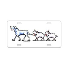 Akbash Dog n Sheep Aluminum License Plate