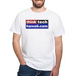White ThinkTechHawaii T-Shirt
