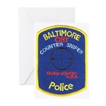 Baltimore PD Sniper Greeting Cards (Pk of 10)
