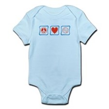 Peace Love Volleyball Infant Bodysuit