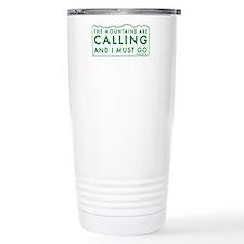 John Muir Mountains Calling Ceramic Travel Mug