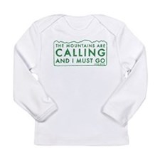 John Muir Mountains Calling Long Sleeve Infant T-S