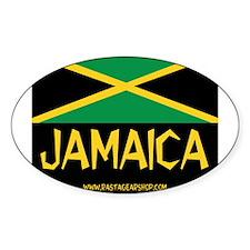 Jamaican Rasta Oval Decal