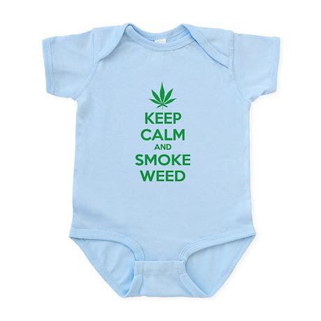 Keep calm and smoke weed Infant Bodysuit