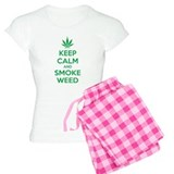 Keep calm and smoke weed pajamas