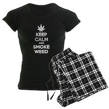 Keep calm and smoke weed pajamas