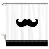 Black Mustache Shower Curtain