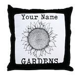 Gardens personalized Throw Pillows