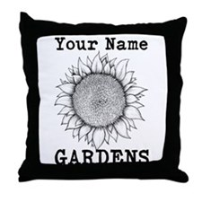 Custom Garden Throw Pillow