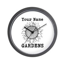 Custom Garden Wall Clock