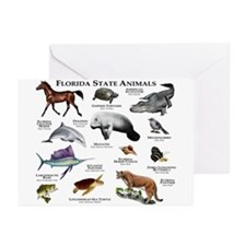 Florida State Animals Greeting Cards (Pk of 20)