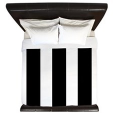 Black and White Stripe King Duvet