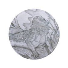 "Bearded Dragon 3.5"" Button"