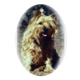 Cairn Terrier Art Oval Ornament
