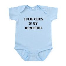 Julie Chen is my homegirl Infant Bodysuit
