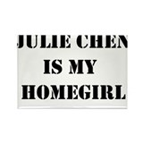 Julie Chen is my homegirl Rectangle Magnet
