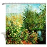 Monet Garden At Montgeron Shower Curtain