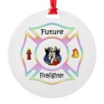 Future Firefighter Pastel Round Ornament