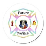 Future Firefighter Pastel Round Car Magnet