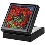 Van Gogh Red Poppies Keepsake Box