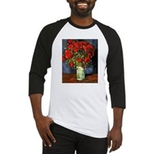 Van Gogh Red Poppies Baseball Jersey