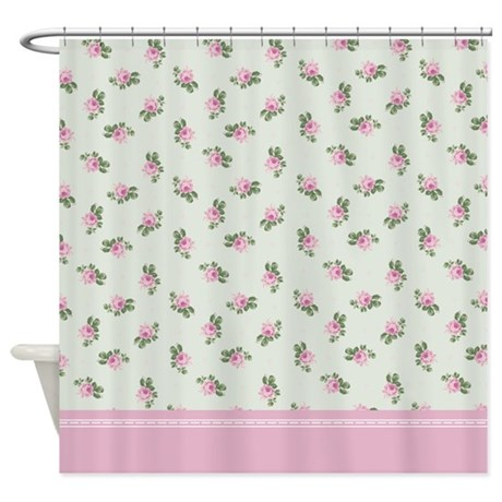 pink roses floral pattern shower curtain by inspirationzstore