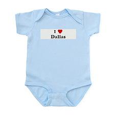 I Love Dallas Infant Creeper