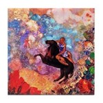 Odilon Redon Muse On Pegasus Tile Coaster