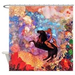 Odilon Redon Muse On Pegasus Shower Curtain