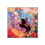 Odilon Redon Muse On Pegasus Square Sticker 3
