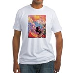 Odilon Redon Muse On Pegasus Fitted T-Shirt
