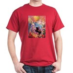 Odilon Redon Muse On Pegasus Dark T-Shirt