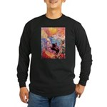 Odilon Redon Muse On Pegasus Long Sleeve Dark T-Sh