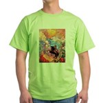 Odilon Redon Muse On Pegasus Green T-Shirt