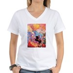 Odilon Redon Muse On Pegasus Women's V-Neck T-Shir