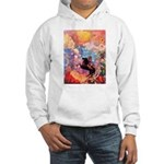 Odilon Redon Muse On Pegasus Hooded Sweatshirt