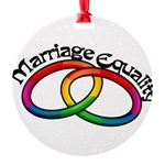 marriage-equality_tr.png Round Ornament