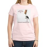 Bearded Fundamentalist Stork Women's Pink T-Shirt