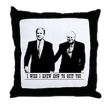 Brokeback Bush Cheney Throw Pillow