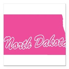 "n-dakota.png Square Car Magnet 3"" x 3"""
