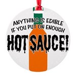 HOTSAUCE.png Round Ornament