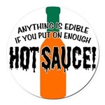HOTSAUCE.png Round Car Magnet