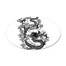 dragon_black.png Oval Car Magnet